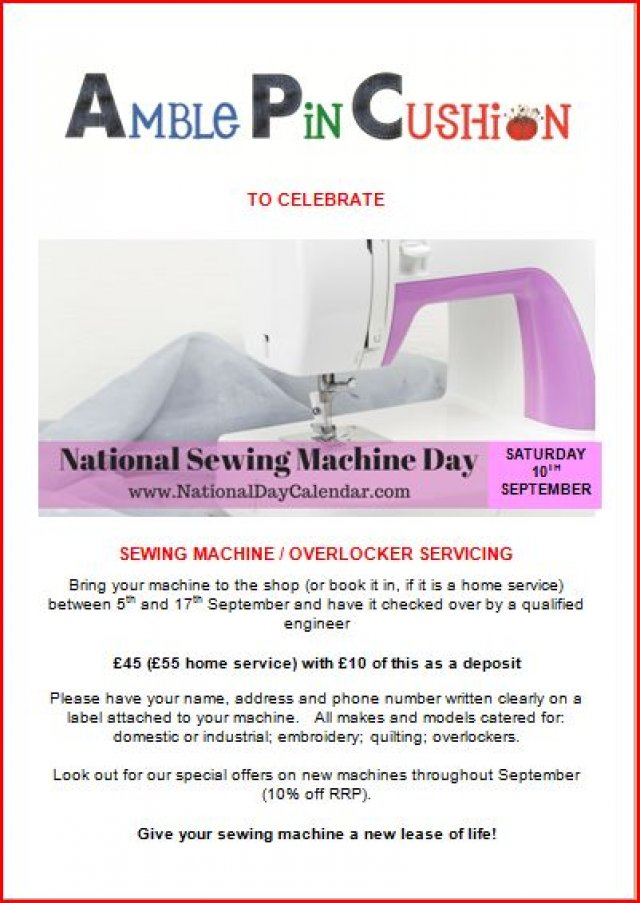Sewing Machine and Overlocker Servicing and Offers