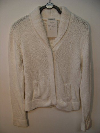 Next white cotton mix cardigan