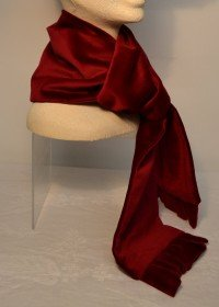 Red velvet scarf to match beret