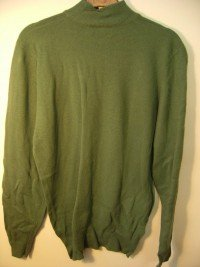 Jaeger lambswool turtle neck sweater (Green)