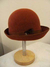 Rust Wool Felt Cloche