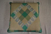 Silk cushion (patchwork)