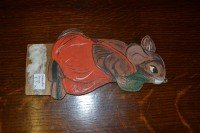 Wooden hand painted mouse (calendar base)