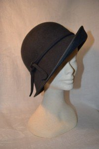 Grey Wool Felt Cloche