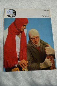 Knitting pattern (balaclava, scarf and fingerless gloves)