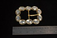 Metal belt buckle (diamante)