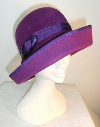 Purple cloche