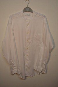 M&S bedford cord grandad shirt (white)