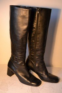 Long Bally boots  (black leather) Size 7