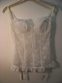 Triumph boned basque (white)  36B