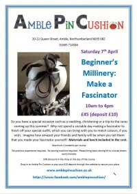 Make a fascinator - beginner's millinery workshop
