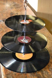 3-tier record cake stand 45/78/33