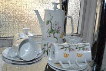 Bavarian floral coffee set