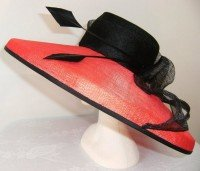 Red & Black Picture Hat