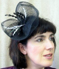 Black with Jagged Feathers Fascinator