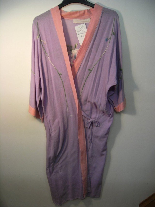 Kimono style dressing gown (lilac) at Mad Hattie
